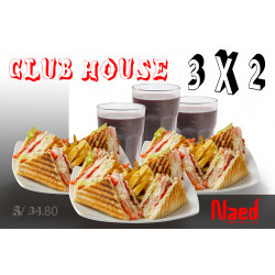 CLUB HOUSE BRASA 3 X 2 OFERTA
